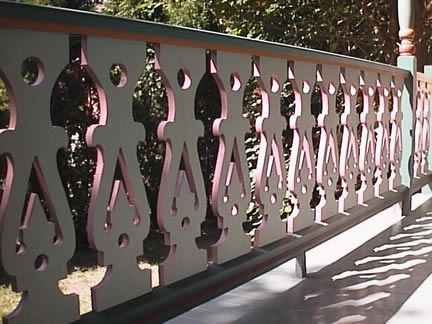 Back side of Balusters - Close-up - Porch Photo 169