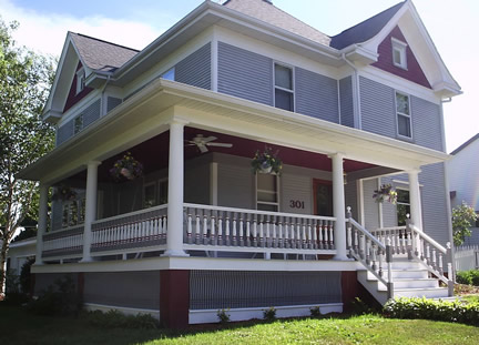 Example of 2-story with front gable (Porch Photo 87)