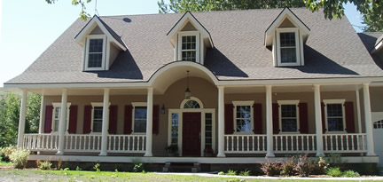 Example of 1-1/2 story with dormers (Porch Photo 91)