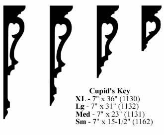 Cupid's Key Brackets - GROUPED