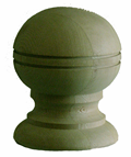 6'' Globe with Rings - Pressure Treated Finial