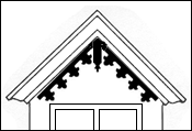 Drawing of Running Trim used with a Gable Drop