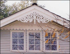 Roof gable decorations home decorating ideas for Victorian gable decorations