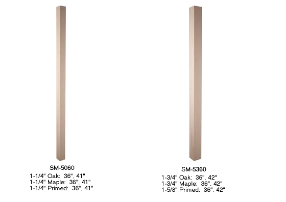 Interior Plain Square Balusters