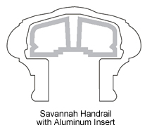 Savannah Top Rail with Aluminum Insert