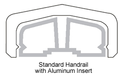 Standard Top Handrail with Inserts