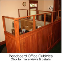 Beadboard Office Cubicles
