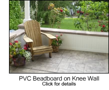 PVC Beadboard on Knee Wall
