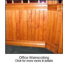 Office Beadboard Wainscotting