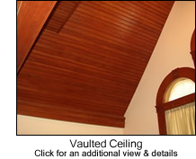 Beadboard on Vaulted Ceiling
