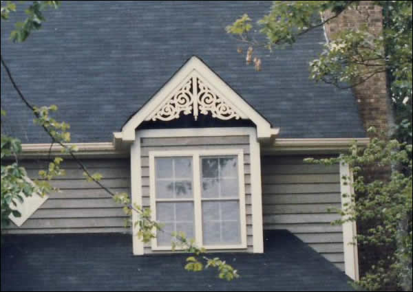 Dormer with Standard Old Lace Gable Decoration