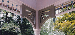 Spandrel Brackets with Classic Ball & Dowel Spandrels