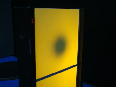 Co2 laser striking a thermal image plate