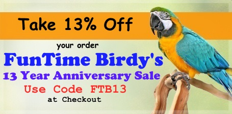 FunTime Birdy's 13th Year Anniversary Sale
