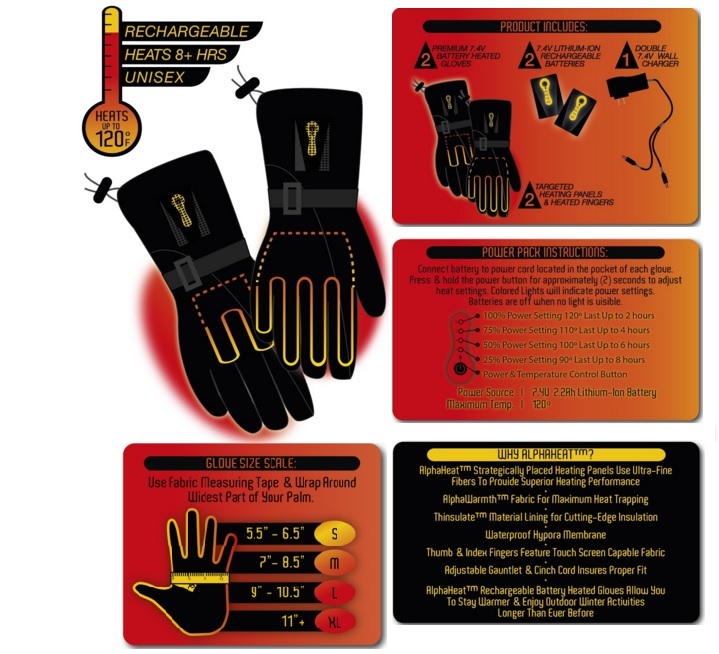 Alpha Heat Battery Heated Glove Batteries Information