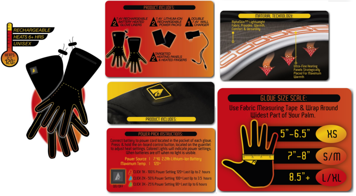 AlphaHeat Battery Glove Liners