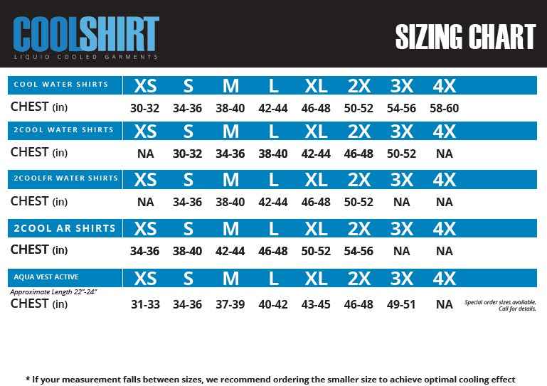 Cool Shirt Sizing Chart