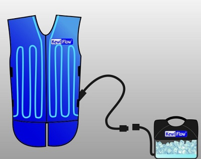 Techniche Kewlflow Circulatory Cooling Vest With Backpack