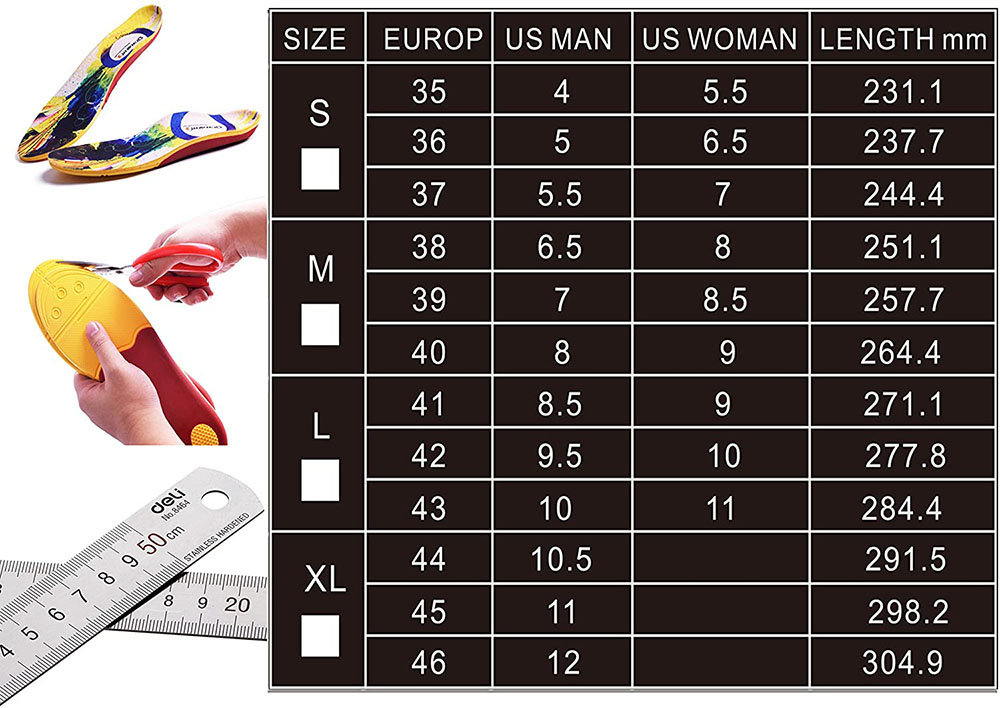 Dr. Warm Size Chart