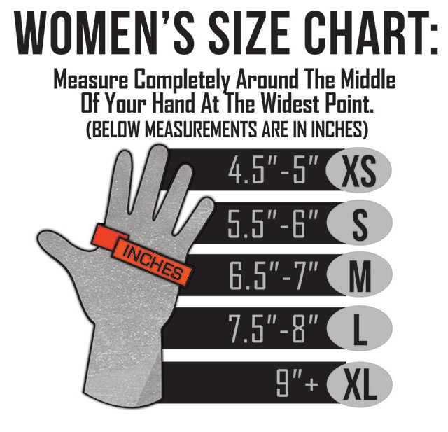 ActionHeat Battery Heated Clothing Womens Heated Glove Size Chart