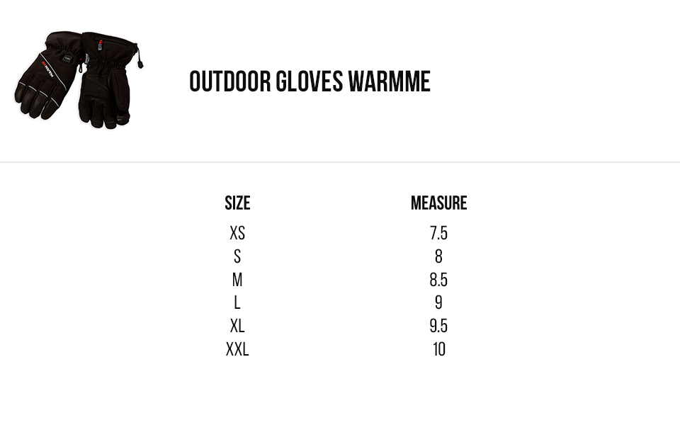 capit size outdoor gloves