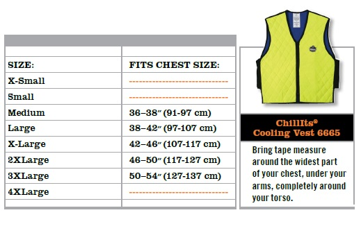 Ergodyne Chill Its 6685 Lime Dry Evaporative Cooling Vest X-Large