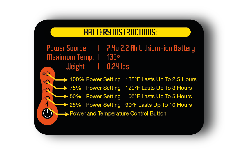 Rechargeable Battery Heated Clothing