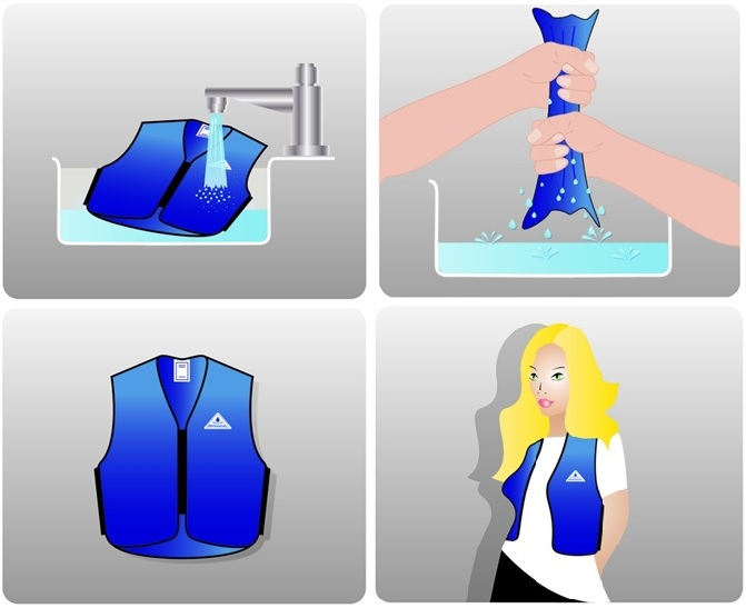 Hyperkewl Evaporative Cooling Vest Sport The Warming Store