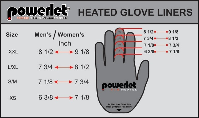 94 Motorcycle Gloves Size Chart