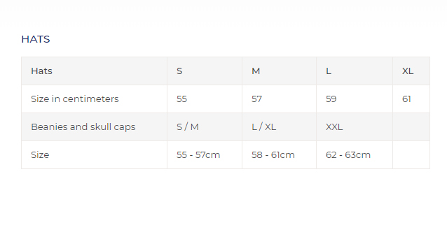 sealskinz hats size chart