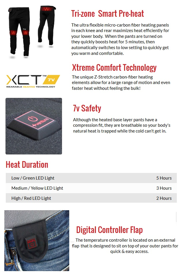 Venture Battery Heated Base Layer Bottoms