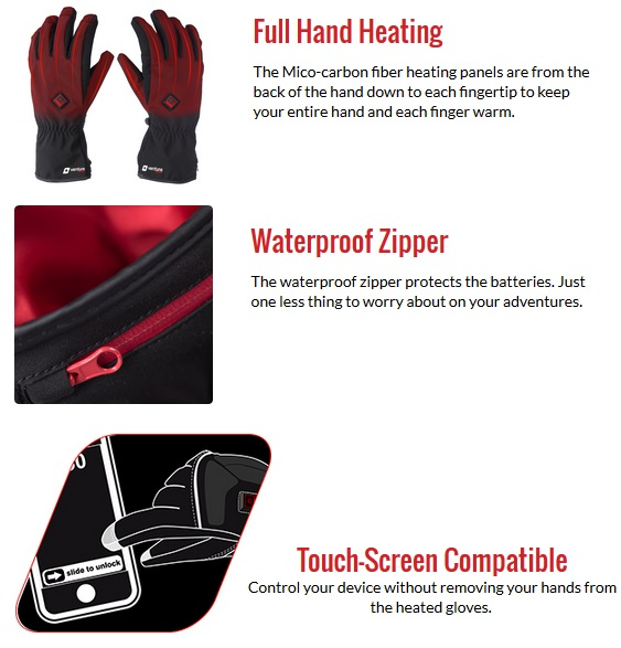 Venture Heated Clothing Alt Gloves