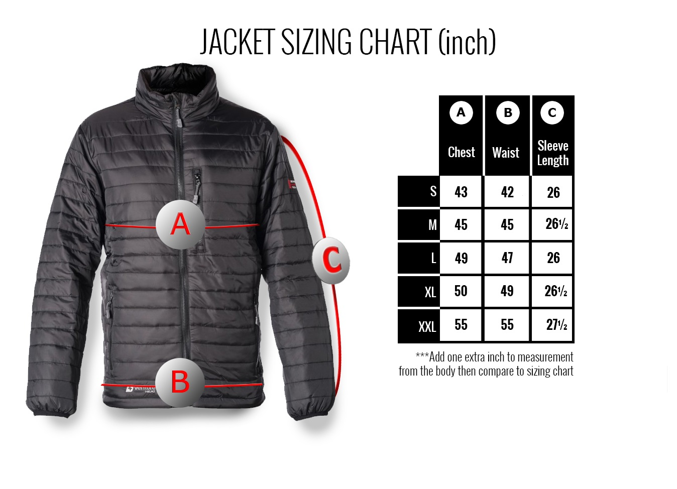 Venture Heat Insulated Heated Jacket For Men With 5v Power
