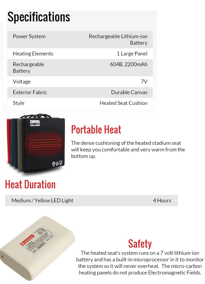 Venture Heat Heated Seat Cushion