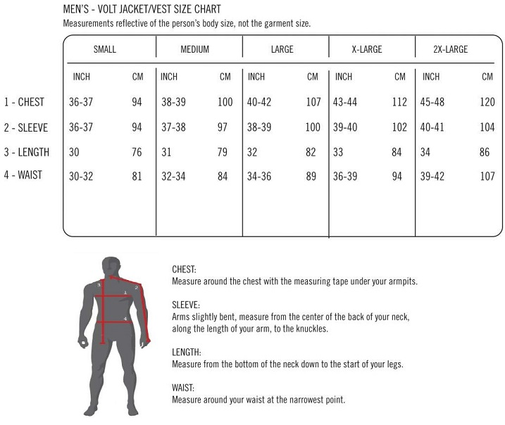 Volt Heat Size Chart Men