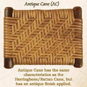 Antique Cane Weave