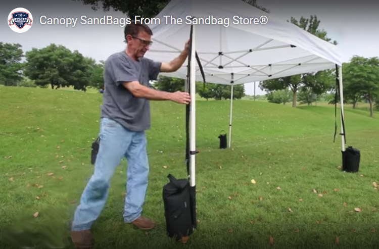 how to secure a canopy tent