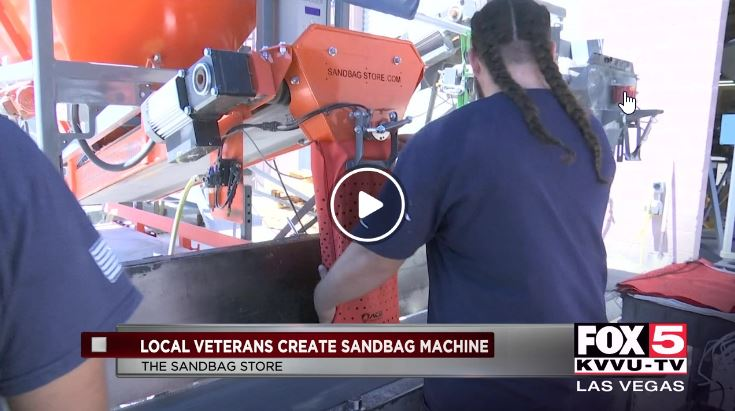 Sand bagging in the valley operated by veterans