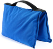 filled saddle sandbag blue