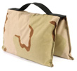 filled saddle sandbag desert camo