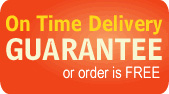 On Time Delivery Guarantee or Order is FREE