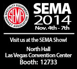 Come visit us at Sema, Nov. 4-7, 2014 Booth No. 12733.