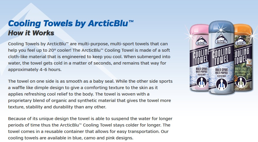 ArcticBlu Cooling Towels