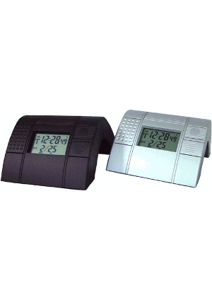 Atomic World Time<br>Dual&nbsp;Alarm&nbsp;Clock<br>TLWA201 silver<br>