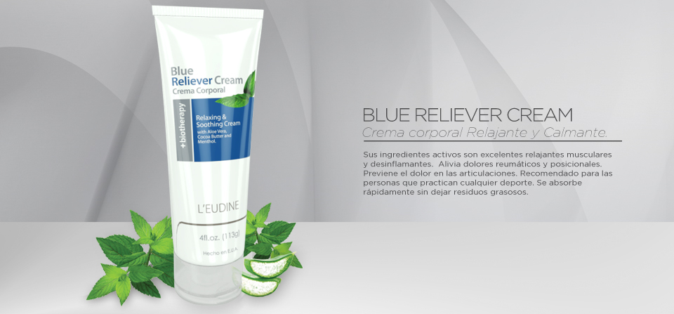 L'EUDINE BLUE RELIEVER CREAM Cont. 4.0 fl.oz. (118 ml)