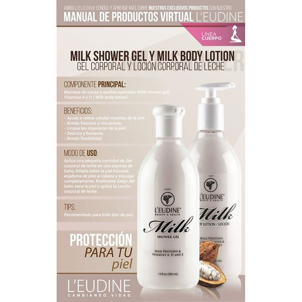 L'EUDINE MILK SHOWER GEL