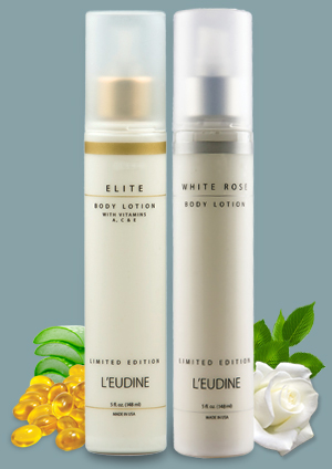 L'EUDINE ELITE AND WHITE ROSE BODY LOTION BUNDLE