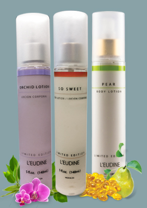 L'EUDINE ORCHID AND SO SWEET PEAR LOTION BUNDLE