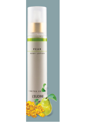 L'EUDINE<br>PEAR<br>BODY LOTION<br>LIMITED EDITION<br>