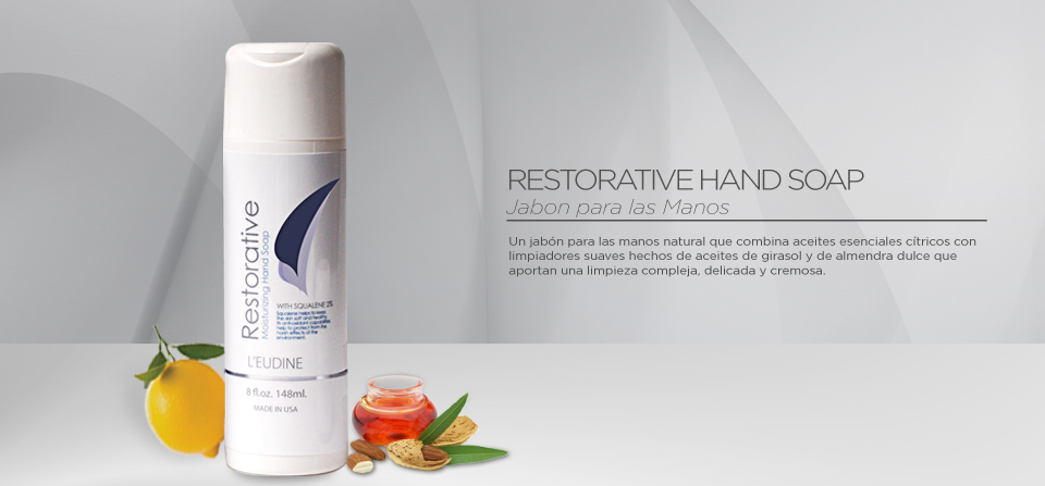 L'EUDINE RESTORATIVE MOISTURIZING HAND SOAP (JABÓN PARA MANOS) 8.0 fl oz. (236 ml) MADE IN U.S.A.